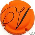 Champagne capsule 35.c Orange mat et noir