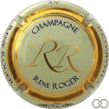Champagne capsule 3 Vert pâle, cercle or