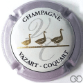 Champagne capsule 27 Contour violet métallisé