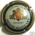 Champagne capsule 4 Contour vert foncé, striée, centre gris pâle