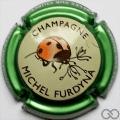 Champagne capsule 45.q Contour vert métallisé