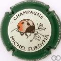 Champagne capsule 44.p Contour vert foncé
