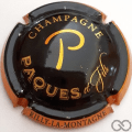 Champagne capsule 8.c Noir, P et contour cuivre