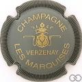 Champagne capsule 9.bh Gris et or, striée