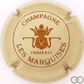 Champagne capsule 6 Crème et marron clair, petit 'champagne'