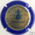 Champagne capsule 9.bl Or, contour bleu