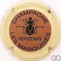 Champagne capsule 9.bzc Or foncé (marron), contour jaune crème