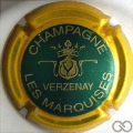 Champagne capsule 9.bx Vert, contour or