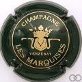 Champagne capsule 1 Vert foncé et or, petit 'champagne'