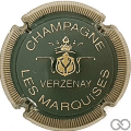 Champagne capsule 9.bu Vert foncé et or, striée