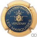 Champagne capsule 9.bc Bleu, contour or
