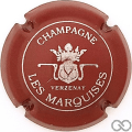 Champagne capsule 9.aa Bordeaux et argent, petit 'champagne'
