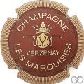 Champagne capsule 9.bf Bordeaux et or, striée