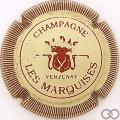 Champagne capsule 9.ab Crème et bordeaux, striée, petit 'champagne'