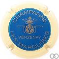 Champagne capsule 9.bb Bleu, contour crème