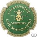 Champagne capsule 9.bt Vert et or, striée