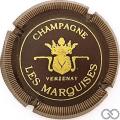Champagne capsule 9.bj Noir et or, striée