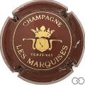 Champagne capsule 8 Marron et or, petit 'champagne'