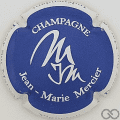 Champagne capsule 1.b Bleu, contour blanc