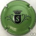 Champagne capsule  S, fond vert métallisé
