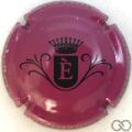 Champagne capsule  E, fond lie de vin