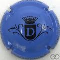 Champagne capsule  D, fond bleu