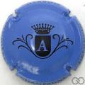 Champagne capsule  A, fond bleu