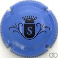 Champagne capsule  S, fond bleu