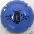 Champagne capsule  E, fond bleu