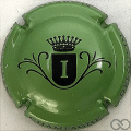 Champagne capsule  I, fond vert métallisé