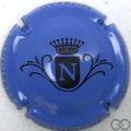 Champagne capsule  N, fond bleu