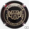 Champagne capsule 10 Noir et or, 4 pattes au lion de droite