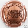 Champagne capsule 15 Rosé et marron, 3 pattes au lion de droite