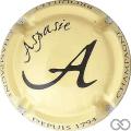 Champagne capsule 9.b Jaune-crème et noir