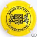Champagne capsule 28 Jaune et noir, verso or