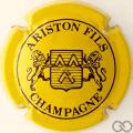 Champagne capsule 12 Jaune et noir, 4 pattes au lion de droite