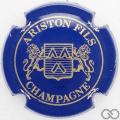 Champagne capsule 16 Bleu et or, 4 pattes au lion à droite