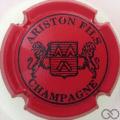 Champagne capsule 18 Rouge et noir, 3 pattes au lion de droite