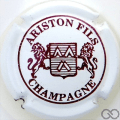 Champagne capsule 19 Blanc et bordeaux, 3 pattes au lion de droite