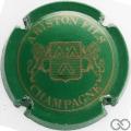 Champagne capsule 13 Vert et or, 4 pattes au lion de droite