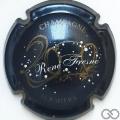 Champagne capsule 6 Bleu nuit, blanc et or