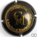 Champagne capsule 3 Marron foncé, or foncé