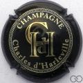 Champagne capsule 4 Noir, grandes lettres