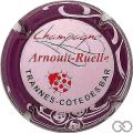 Champagne capsule 11 Rose, contour violet, coccinelle rouge