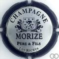 Champagne capsule 11.a Contour noir, lettres grandes épaisses, verso or