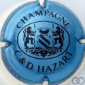 Champagne capsule 22 Bleu métallisé et noir