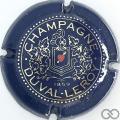 Champagne capsule 4 Bleu foncé, or et rouge