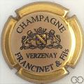 Champagne capsule 2 Contour or, grandes lettres