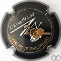 Champagne capsule 614 An 2000, n° 614, noir, lettres or