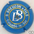 Champagne capsule 3.a Bleu clair et métal, intérieur de 'B': droit